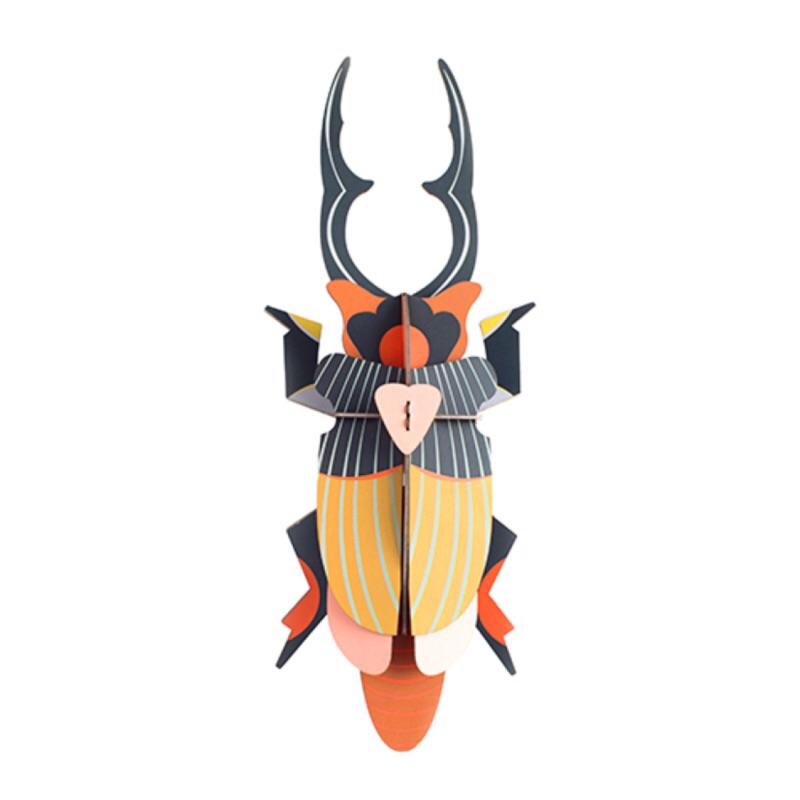 《齊洛瓦鄉村風雜貨》荷蘭studioroof 昆蟲系列 巨型鍬形蟲 立體拼圖 立體壁飾 居家佈置 店家壁面佈置