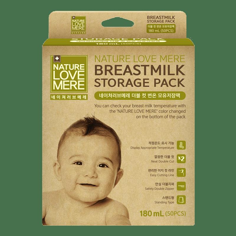然自母愛 雙剪感溫母乳儲存袋180ml(50入)