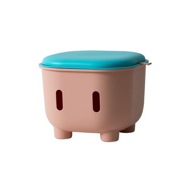 雙色拼接多功能收納凳(三色可選) 玩具收納 收納椅  【JHome+就是家】