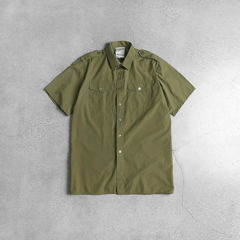 英軍公發陸軍野戰薄襯衫 / Vintage 古著 / 歐洲軍裝