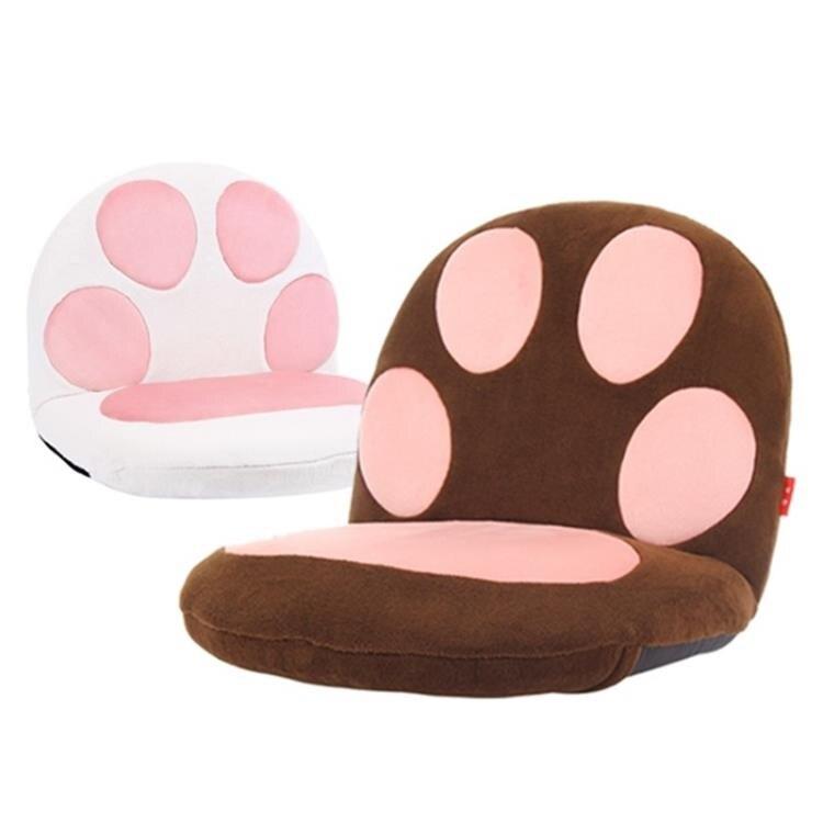 榻榻米卡通可愛貓爪沙發懶人沙發單人兒童日式卡通床上哺乳椅 TW 概念3C