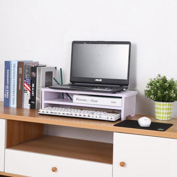 顯示屏增高架 顯示器增高架子屏幕墊高底座辦公室電腦桌置物架桌面收全館免運限時優惠
