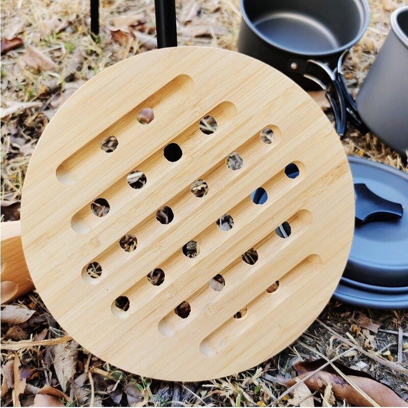 美麗大街【109052024】原木自然風格熱鍋墊