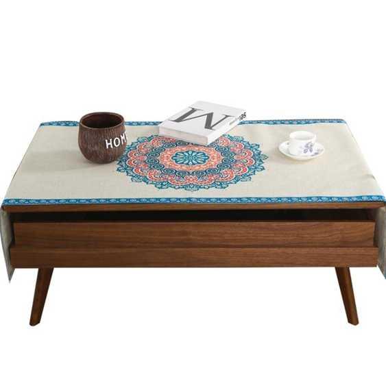 桌巾北歐棉麻布藝茶幾幾桌布茶幾幾墊電視柜櫃桌布茶幾幾布