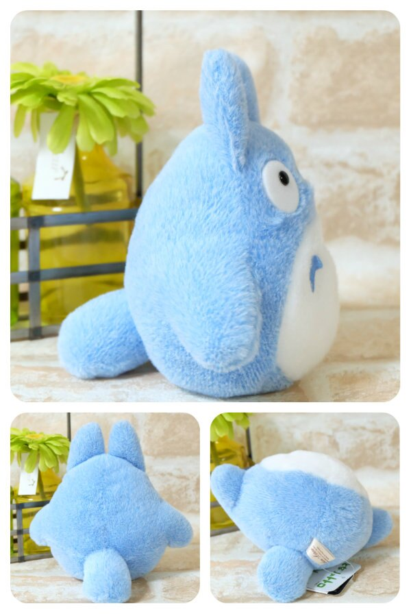 軟絨 沙包手玉娃 M 藍龍貓  龍貓 TOTORO 豆豆龍 娃娃 布偶 玩偶 收藏 擺飾 4974475687133 真愛日本