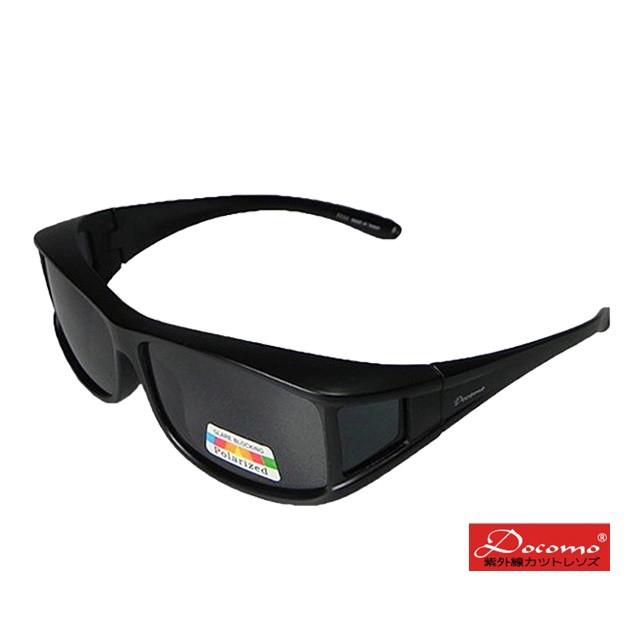 舒適全覆式Polarized偏光鏡片抗UV400偏光太陽眼鏡 多功能包覆設計 使用超方便(亮面黑) 廠商直送 現貨