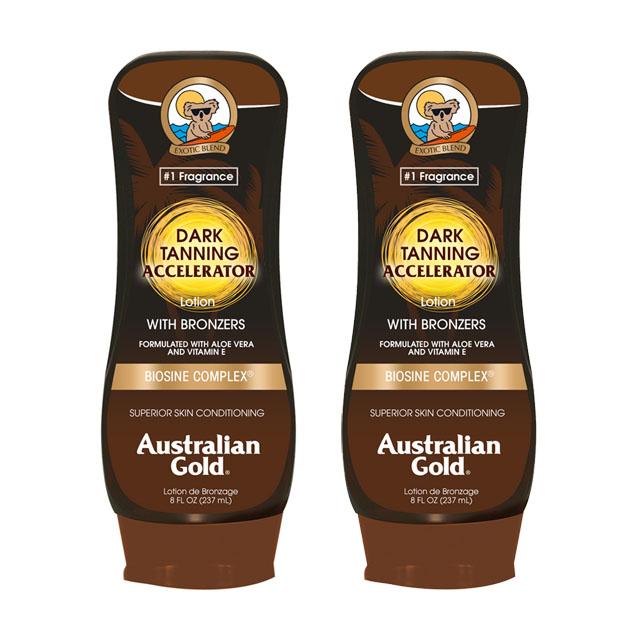 Australian Gold金色澳洲 急速黝黑助曬乳液237ml (2入組)