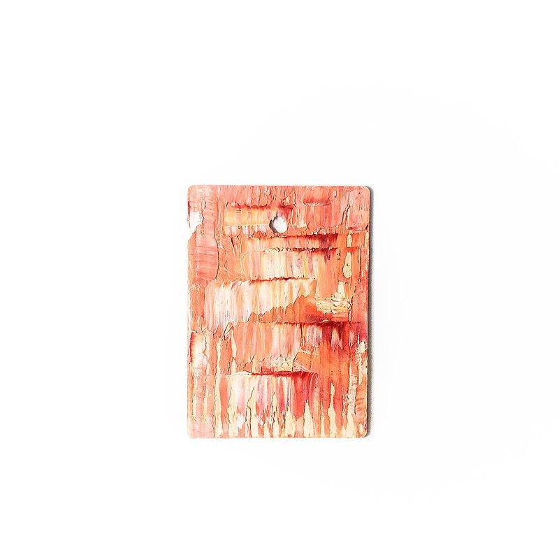 手繪抽象藝術環保木牌吊飾 Abstract Wood Art _Bleeding