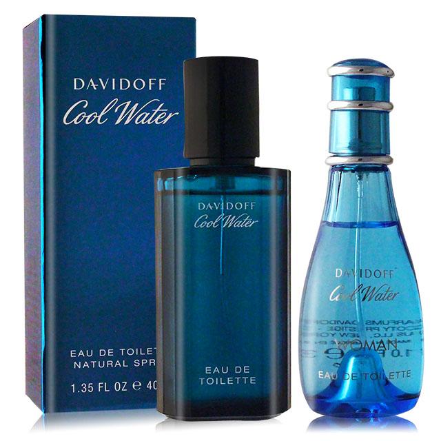 Davidoff 冷泉淡香水男女對香組(30ml+40ml)-國際航空版