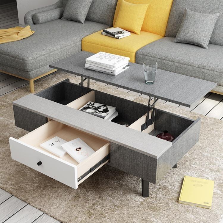 北歐格調時尚創意多功能可升降茶幾個性簡約現代小戶型客廳茶幾 概念3C