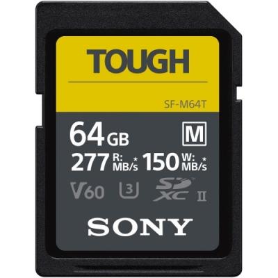 SONY SDXC U3 64GB 高速防水記憶卡 SF-M64T(公司貨)