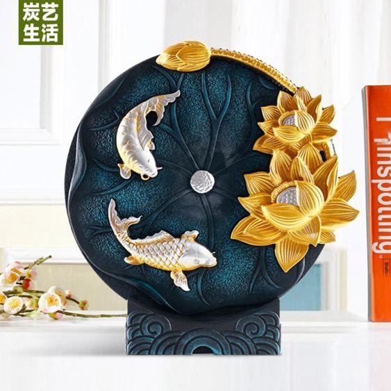 新中式客廳電視柜擺件家居飾品酒柜玄關中國風輕奢裝飾品擺設創意