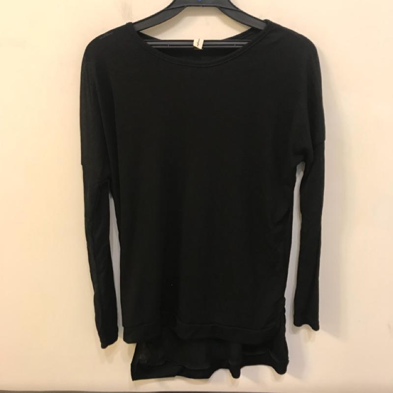 韓版顯瘦修身基本款長袖T恤(S號/121-1283)