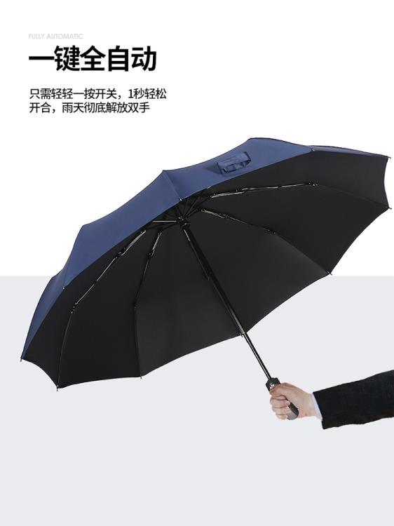 自動傘雨傘男女全自動摺疊晴雨兩用防曬防紫外線大號黑膠遮陽太陽傘定制 【新年鉅惠】