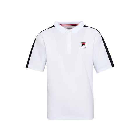 FILA 男吸排抗UV POLO衫-白色 1POU-5003-WT