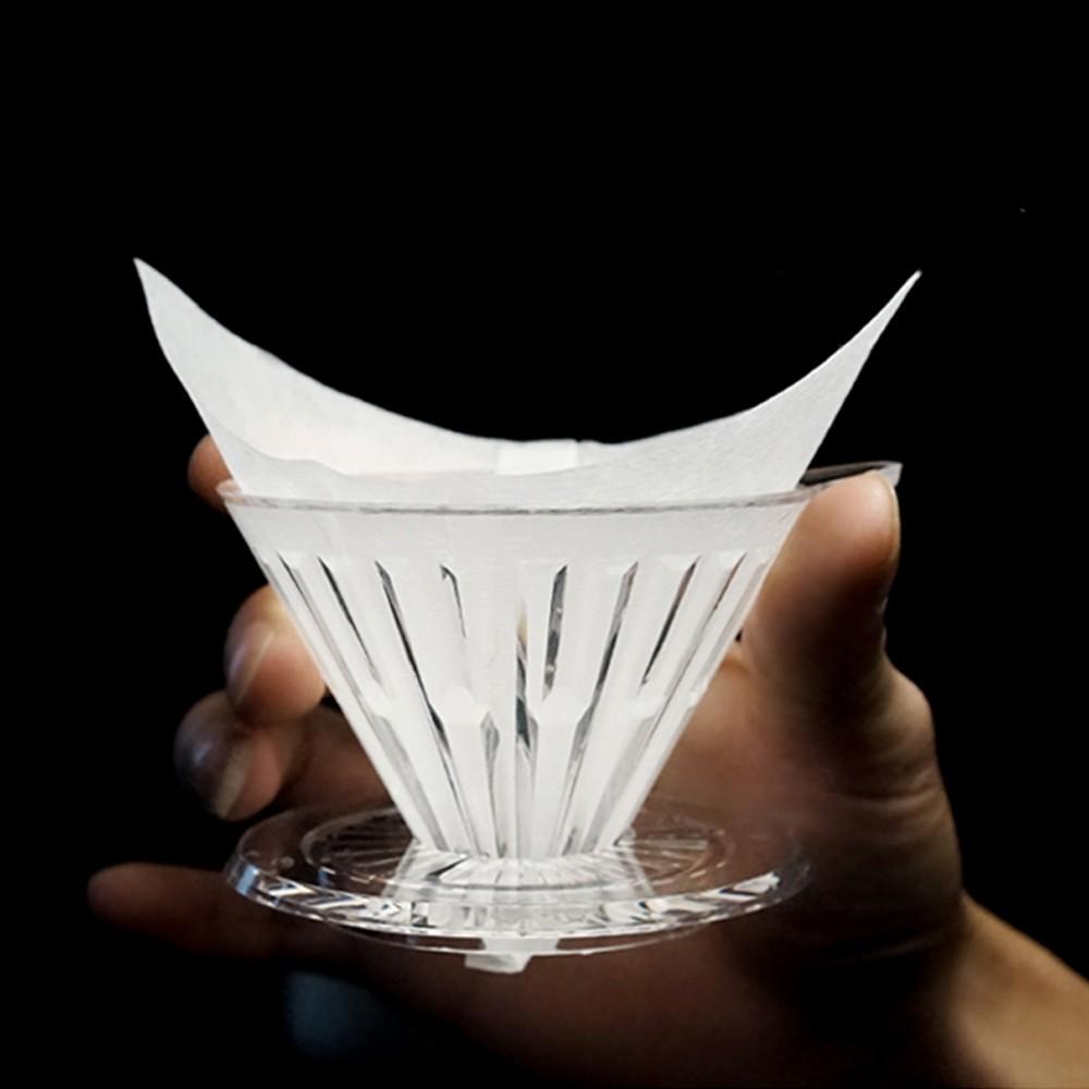 TIMEMORE 泰摩 淨白型咖啡濾紙-50張 通用圓錐形扇形方形咖啡濾紙 手沖咖啡咖啡濾紙V形濾紙