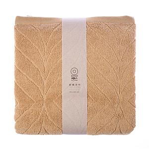 HOLA 葡萄牙純棉浴巾-雲葉黃70x140cm