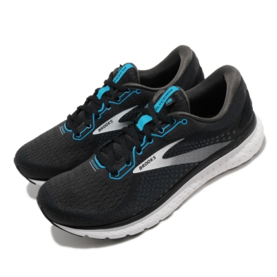 Brooks 慢跑鞋 Glycerin 18 2E 寬楦 男鞋 路跑 緩震 DNA科技 透氣 健身 球鞋 黑 白 1103292E032