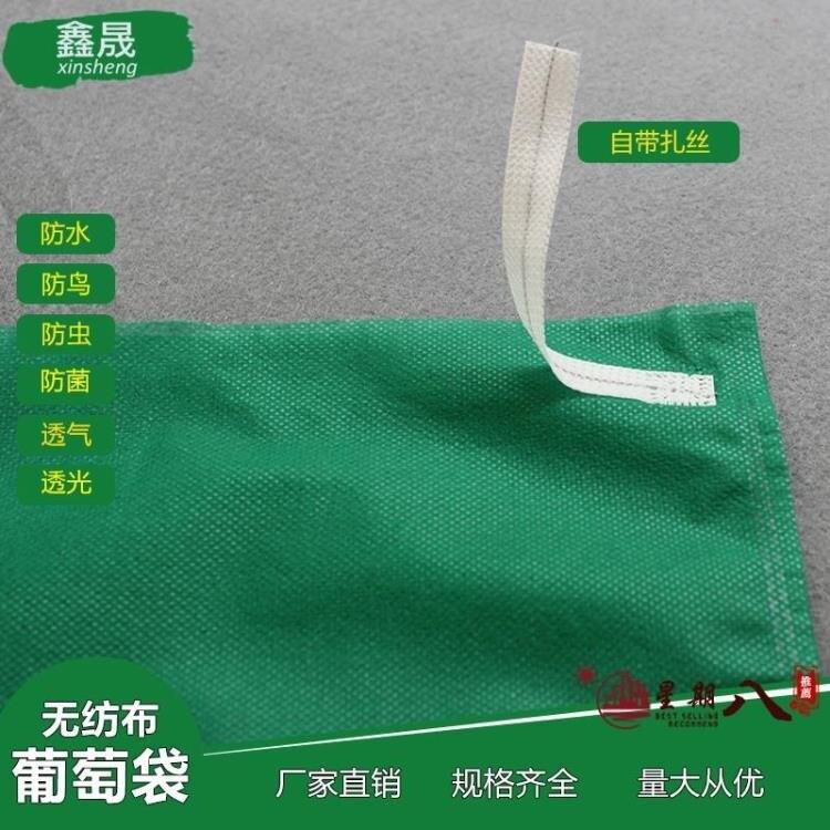 防鳥袋 葡萄套袋專用袋防鳥半透明露天防水保護袋綠色防蟲水果套袋無紡布  概念3C