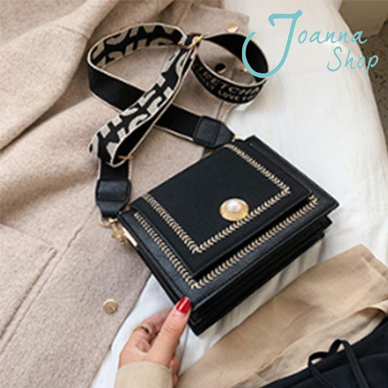 韓國直送質感2020新款韓版磨砂斜肩包2-Joanna Shop