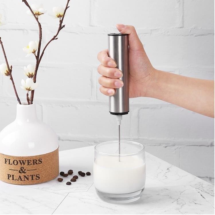 奶泡機 充電式咖啡打奶泡器家用電動手持牛奶蛋清奶油發泡器打泡器烘焙  【新年鉅惠】