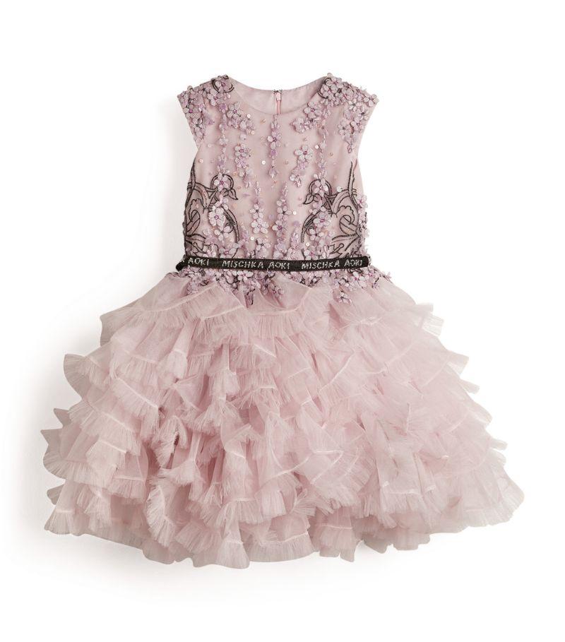 Mischka Aoki Kids Sequin-Embellished Ruffle Dress (4-12 Years)