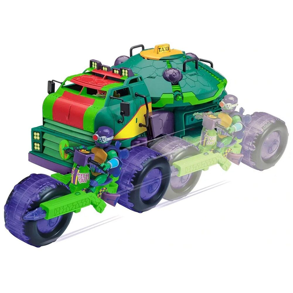 PLAYMATES 全新忍者龜: 公仔戰鬥車 SHELL HOG WITH DONATELLO