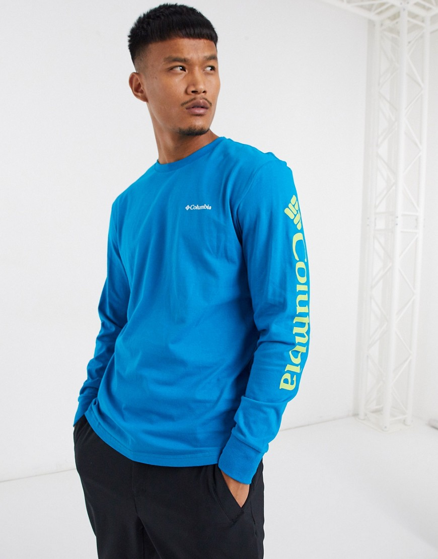 Columbia North Cascades long sleeved t-shirt in blue