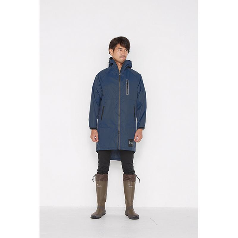 海軍藍 空氣感雨衣/時尚防水風衣 附收納袋(男女適用)