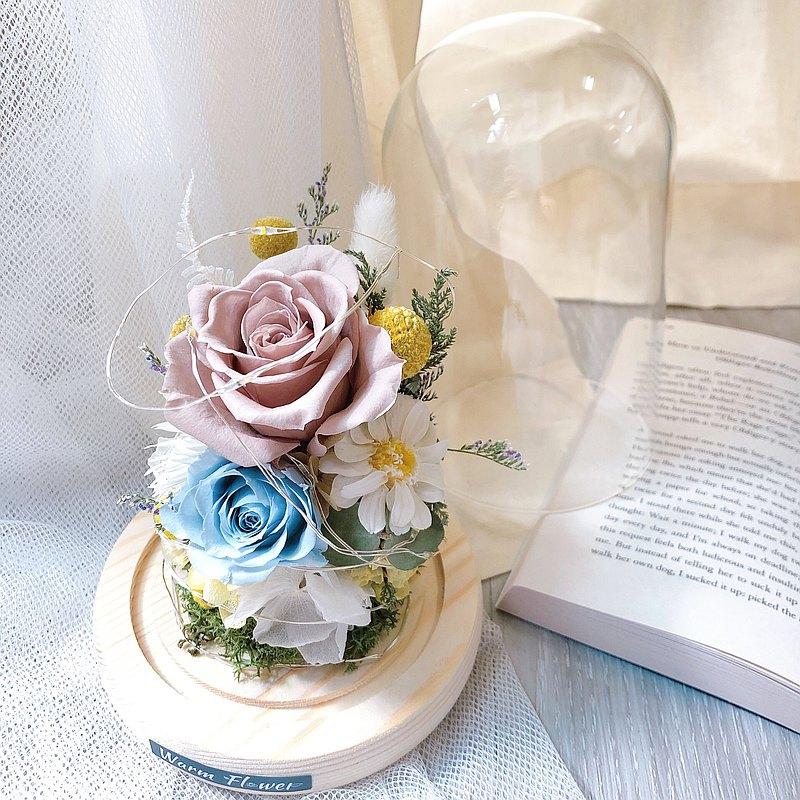 永生玻璃盅花 - 春暖 | 玻璃花盒/乾燥花/永生花