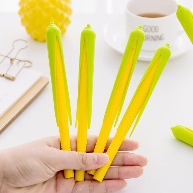 玉米中性筆 蔬菜筆 仿真中性筆 文具 禮物 贈品 批發 0.5中性筆