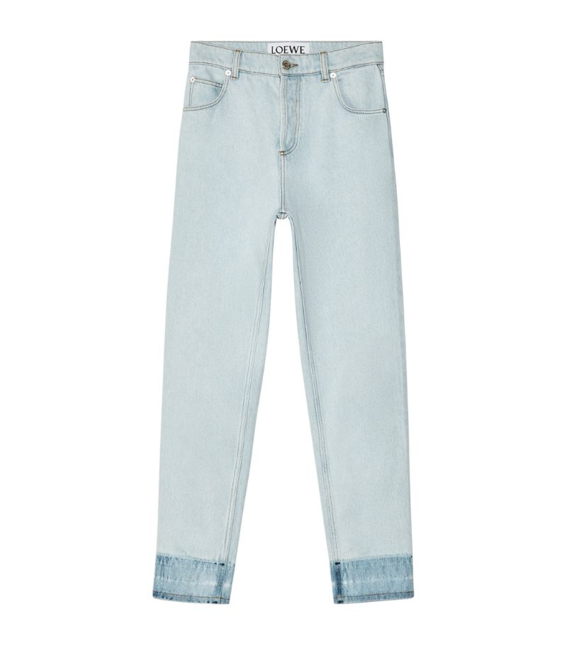 Loewe Contrast-Cuff Tapered Jeans