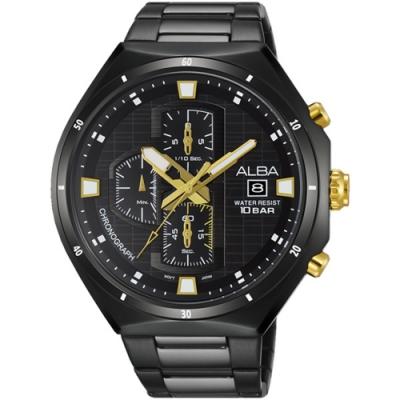 ALBA 雅柏 限定風格計時腕錶-黑46mm(VD57-X087SD/AM3403X1)