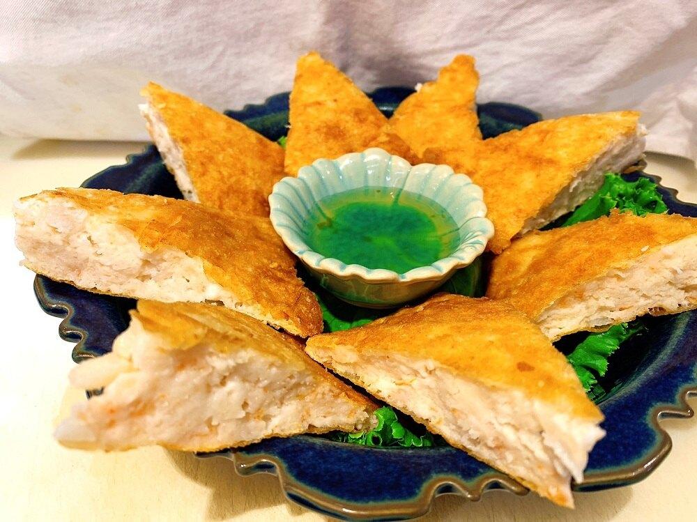 【蝦餅系列組合】(月亮蝦餅*3+金錢蝦球*3)南洋料理 泰國料理 真空包 冷凍食品 上班族