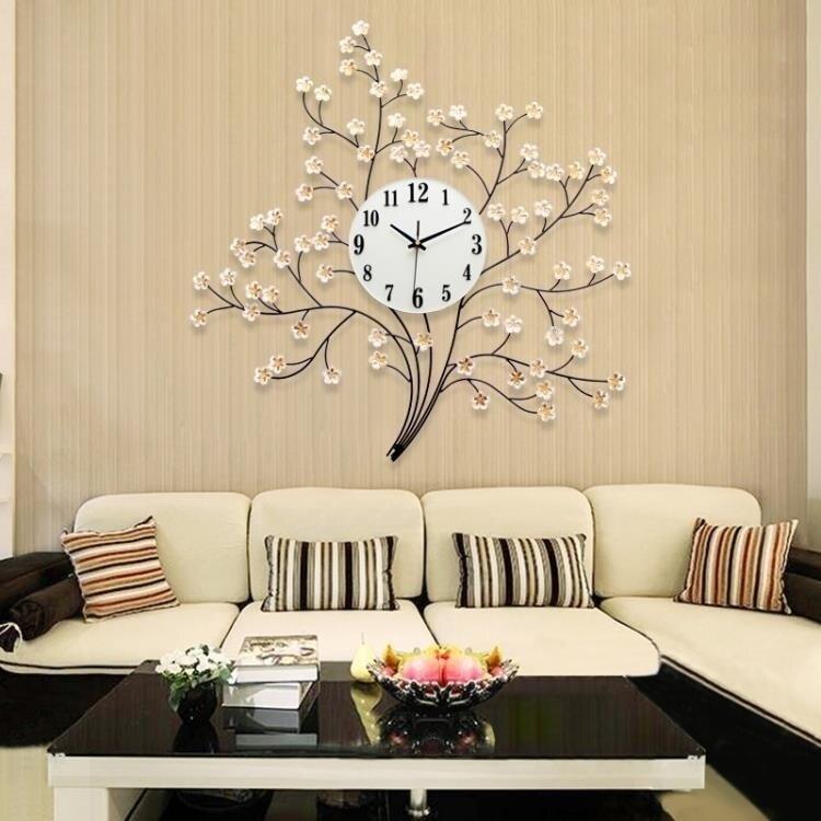 掛鐘 客廳現代簡約靜音大氣時尚藝術裝飾個性時鐘石英鐘錶 部落 【新年鉅惠】