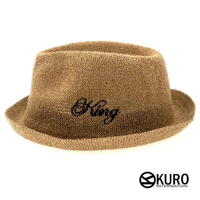 KURO-SHOP-咖啡色小童KING草帽紳士帽(可客製化)