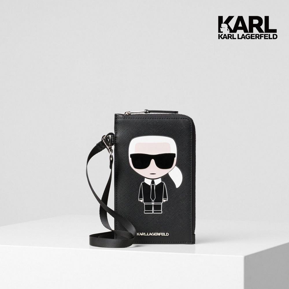 【KARL LAGERFELD】IKONIK多功能手機袋-黑