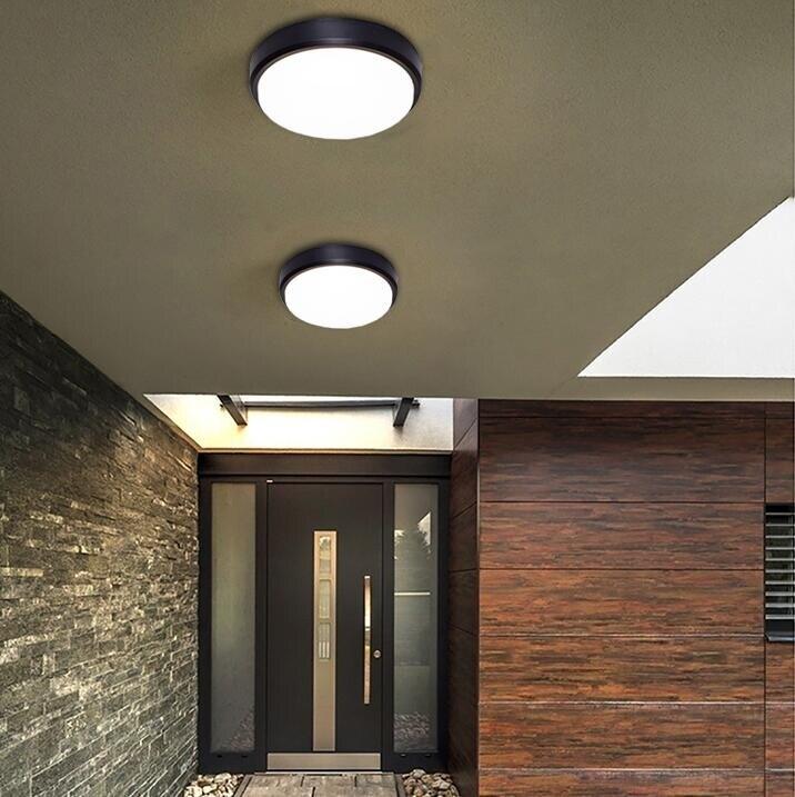 壁燈 百搭圓形簡潔戶外墻壁防水led燈創意 部落 【新年鉅惠】