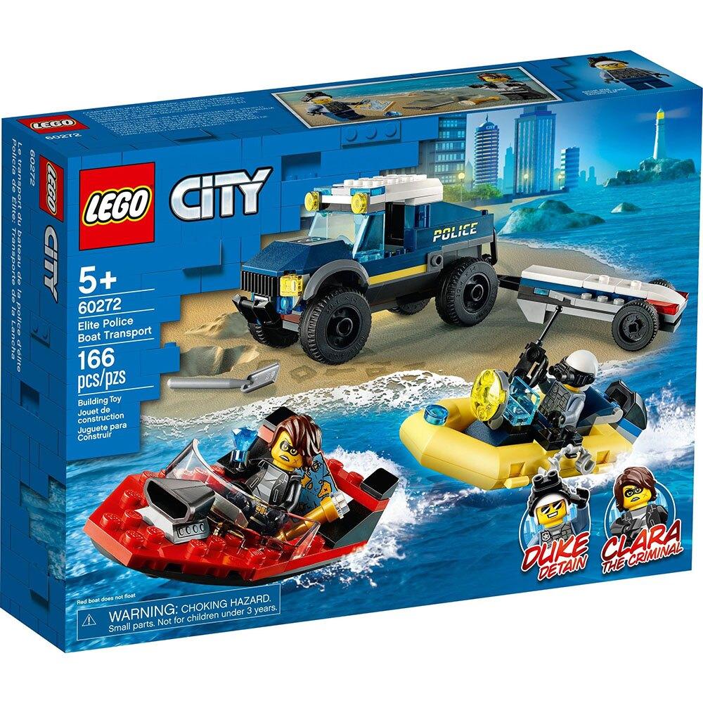 樂高LEGO 60272   City城市系列 特警船隻運輸組