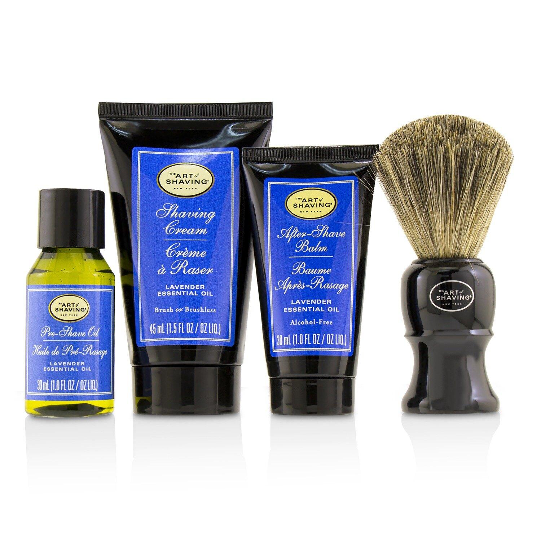 刮鬍學問 The Art Of Shaving - 完美刮鬍4件套組(中等尺寸) - 薰衣草The 4 Elements of the Perfect Shave Mid-Size Kit - Lav