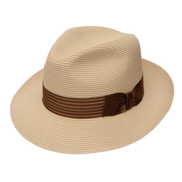 Dobbs Harrod - Straw Fedora Hat