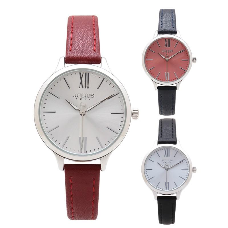 韓國JULIUS未完篇章放射紋真皮手錶【WJA1125】璀璨之星