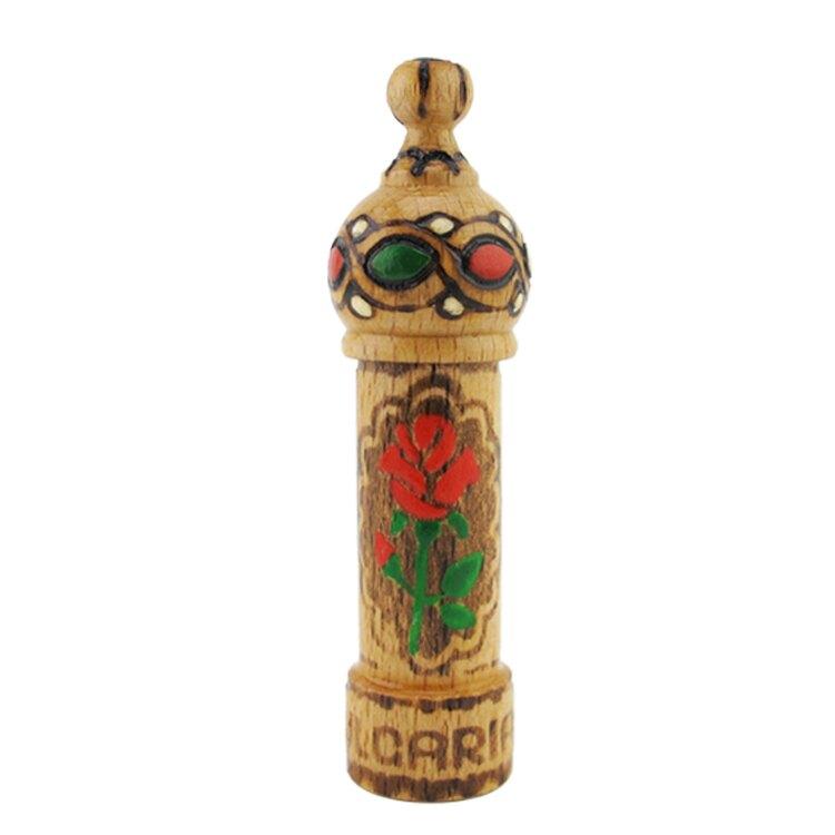 【獨家】保加利亞進口手工木瓶 精油保存專用 奧圖玫瑰精油專屬傳統木瓶 1ml 2ml玻璃瓶可裝