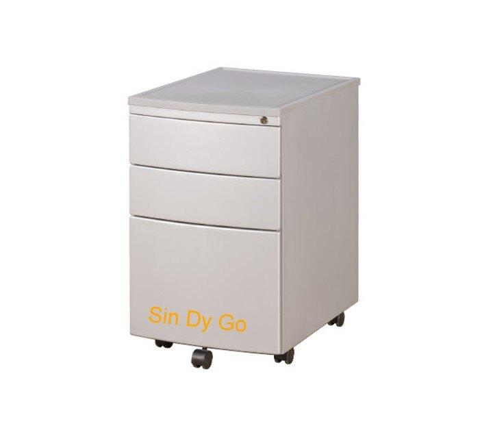 【鑫蘭家具】圓弧活動櫃  H65公分 沙銀色 移動櫃 收納櫃 公文櫃