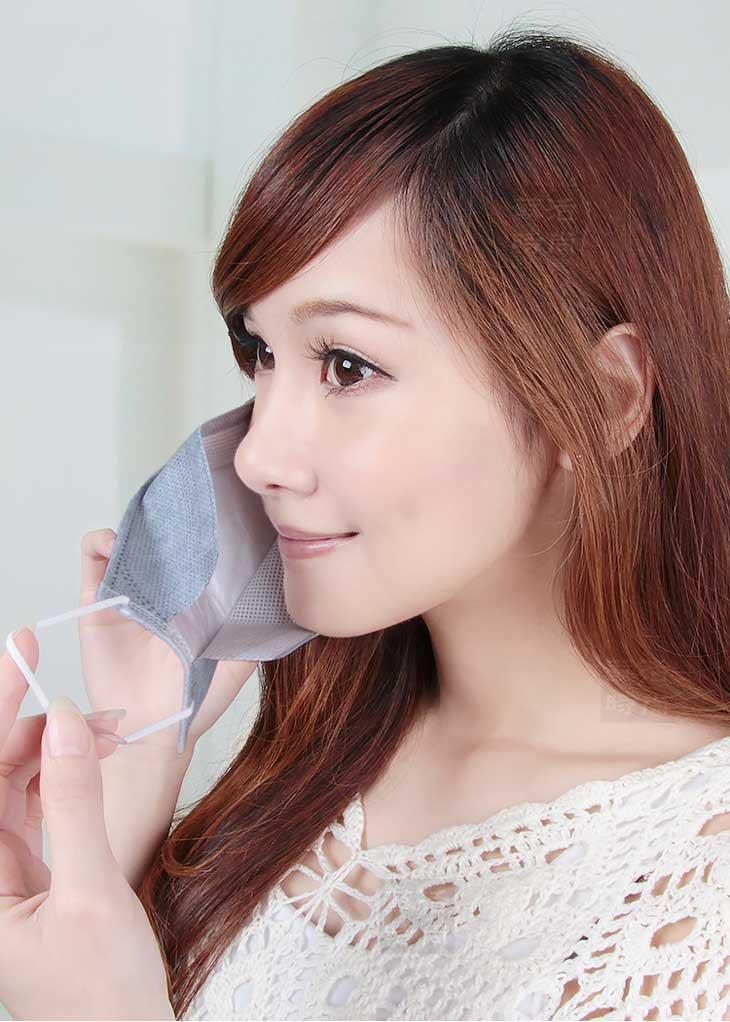 台灣生產3D立體款鴨嘴活性碳拋棄式口罩十片包裝 (一包十片價格)