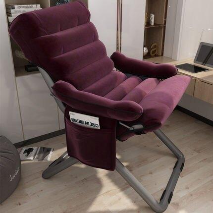 電腦椅 電腦椅子靠背休閑辦公書桌椅大學生宿舍懶人沙發舒適久坐家用躺椅【99購物節】