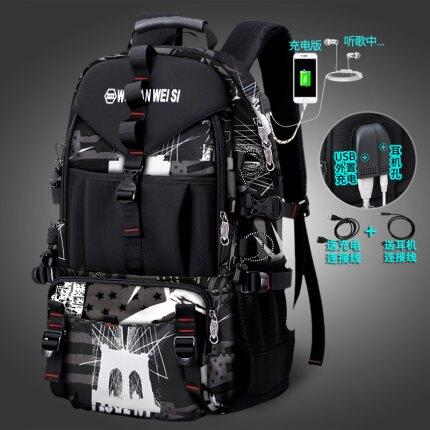 背包男後背包旅行戶外輕便旅遊行李包休閒時尚潮流大容量登山書包『xxs745』