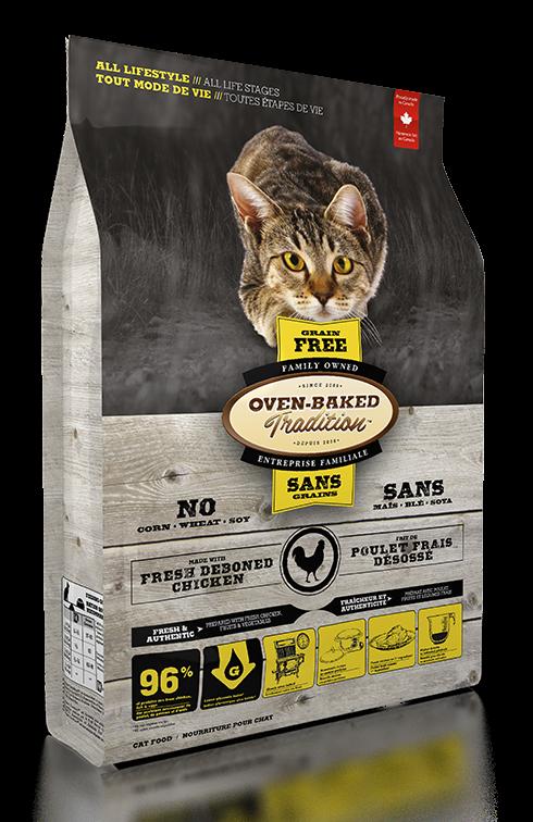 Oven-Baked烘焙客 全齡貓【無穀野放雞配方】-5磅 ( 2.27公斤)