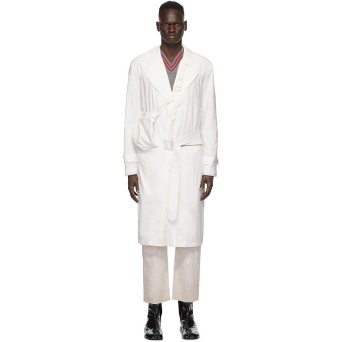 Maison Margiela 灰白色可收纳再生尼龙风衣
