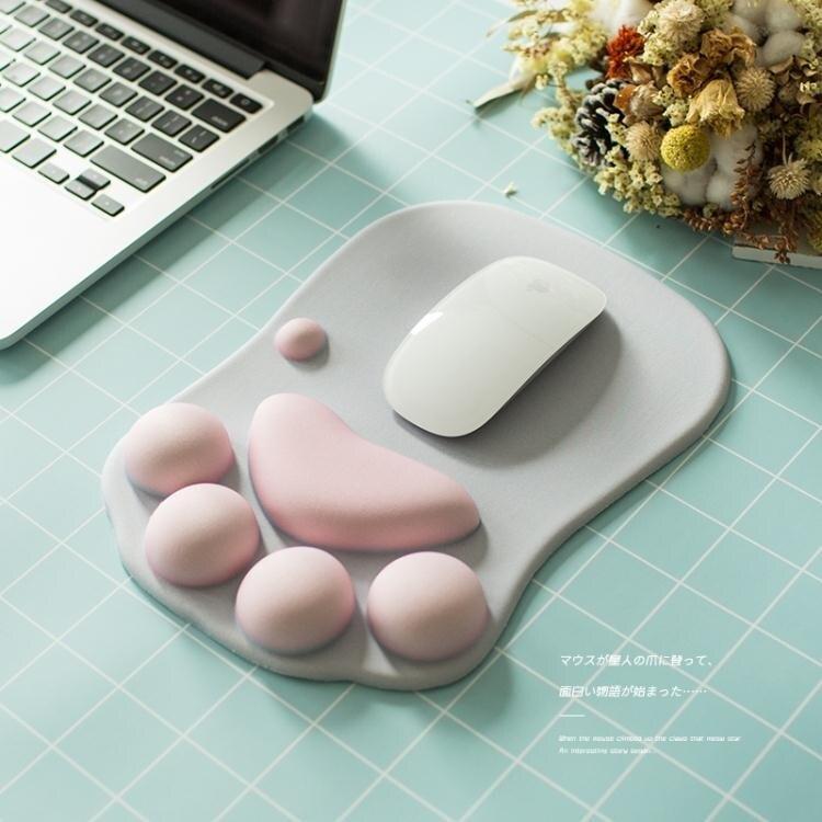 滑鼠墊—可愛貓爪滑鼠墊護腕墊子韓國創意辦公膠墊動漫女生萌物個性滑鼠墊